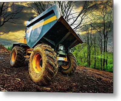Big Bad Dumper Truck Metal Print by Meirion Matthias