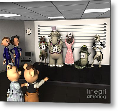 Big Bad Wolf Lineup Metal Print by Methune Hively