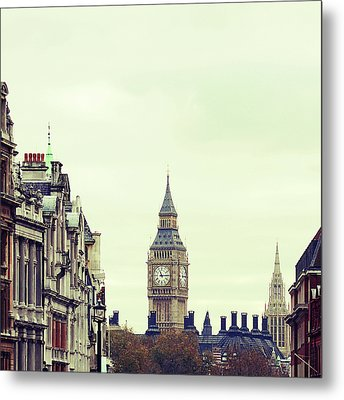 Big Ben As Seen From Trafalgar Square, London Metal Print by Image - Natasha Maiolo