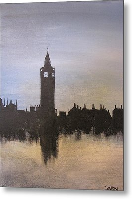 Metal Print featuring the painting Big Ben Of London by Gary Smith