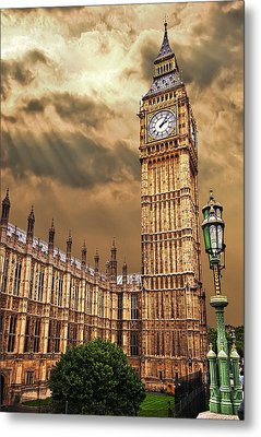 Big Ben's House Metal Print by Meirion Matthias