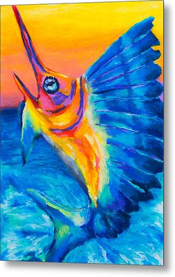 Metal Print featuring the painting Big Blue by Stephen Anderson