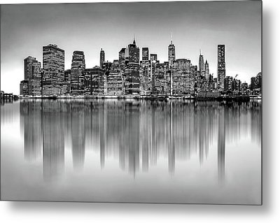 Metal Print featuring the photograph Big City Reflections by Az Jackson