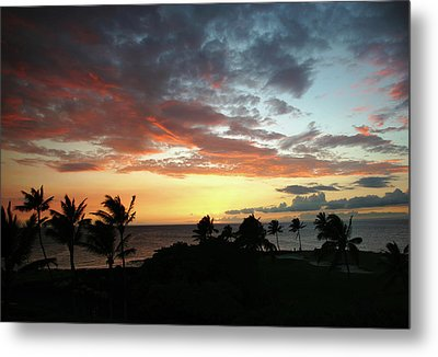Metal Print featuring the photograph Big Island Sunset #2 by Anthony Jones