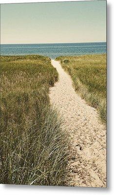 Metal Print featuring the photograph Big Lake Beach Path by Michelle Calkins