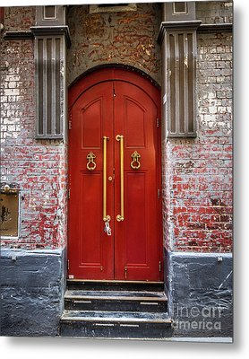 Metal Print featuring the photograph Big Red Doors by Perry Webster
