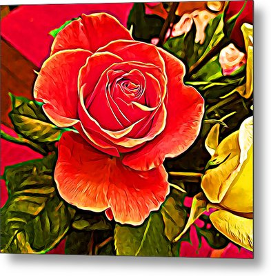 Big Red Rose Metal Print