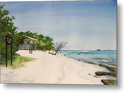 Big Sand At Lime Cay Metal Print by Anji Worton