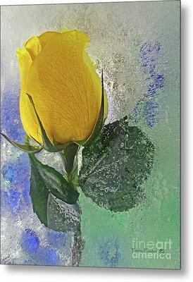 Big Yellow Metal Print by Terry Foster