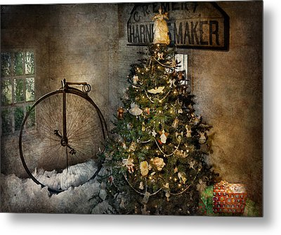 Bike - I Wanna Bike For Christmas  Metal Print by Mike Savad
