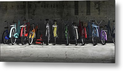 Bike Rack Metal Print