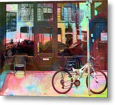 Metal Print featuring the digital art Bike Ride To Runyons by Susan Stone