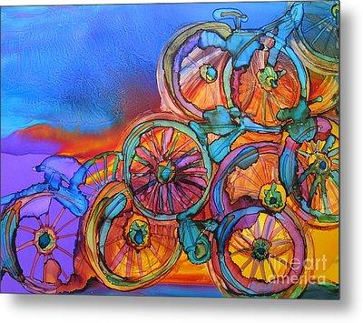 Bike Sculpture Metal Print