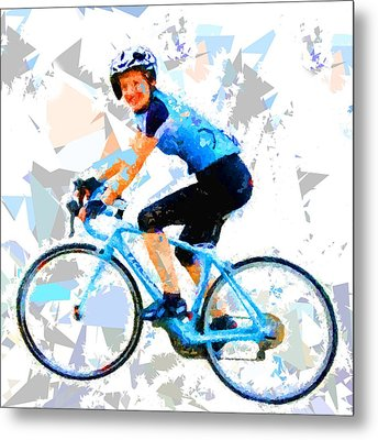 Metal Print featuring the painting Biker 1 by Movie Poster Prints