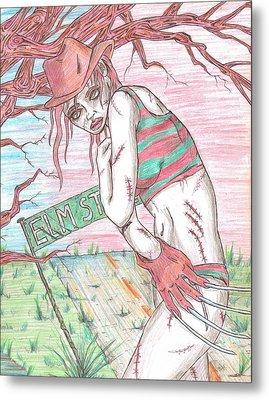 Bikini Freddy Metal Print by Michael Toth