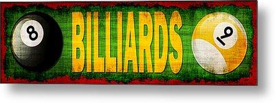 Billiards Metal Print by David G Paul