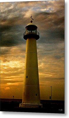 Biloxi Lighthouse - Sunrise Metal Print