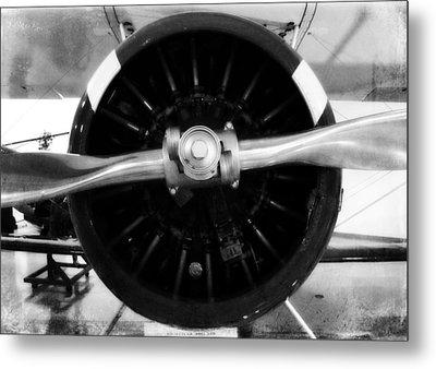 Biplane Propeller Metal Print