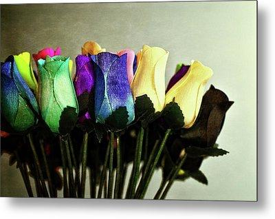 Birch Bark Roses 13 Metal Print by Cindy Nunn