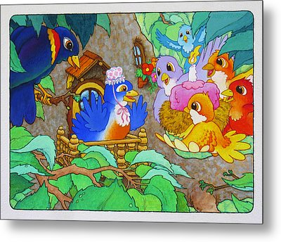 Bird-day Metal Print by Terry Anderson