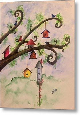 Birdhouses Metal Print