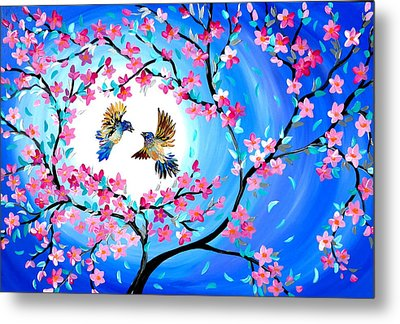 Birds Of Paradise Metal Print by Cathy Jacobs