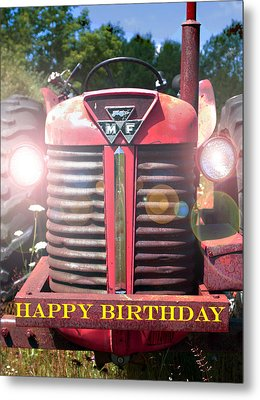 Birthday Card -- Big M-f Metal Print