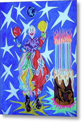 Birthday Clown Metal Print by Robert SORENSEN
