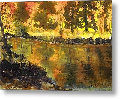 Bishop Creek Autumn Metal Print