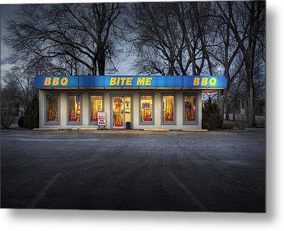 Bite Me Bbq Metal Print