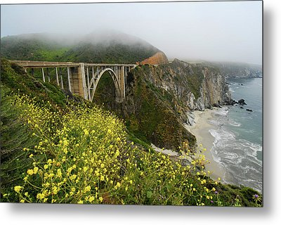 Bixby Bridge Metal Print by Harry Spitz