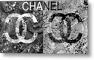 Black And White Chanel Art Metal Print by Dan Sproul