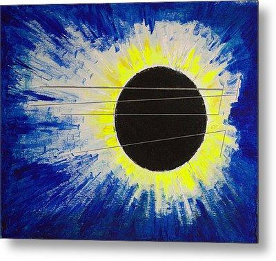 Black Hole Blues Metal Print