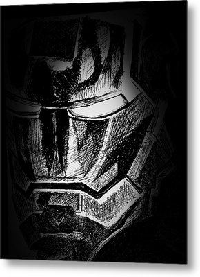 Black Iron  Metal Print by Dave Rogers