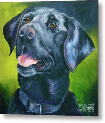 Black Lab Forever Metal Print by Susan A Becker