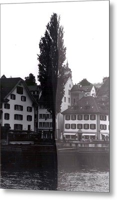 Black Lucerne Metal Print by Christian Eberli