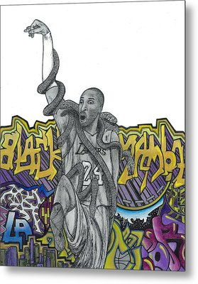 Black Mamba Metal Print