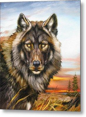 Black Phase Wolf Metal Print