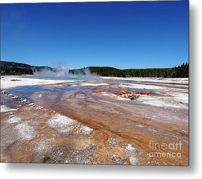 Black Sand Basin In Yellowstone National Park Metal Print by Louise Heusinkveld