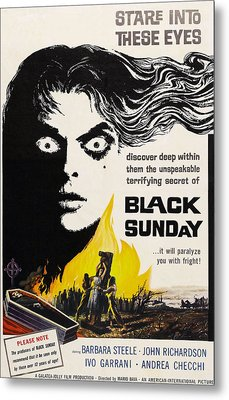 Black Sunday, Barbara Steele, One-sheet Metal Print by Everett