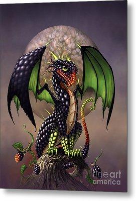 Blackberry Dragon Metal Print