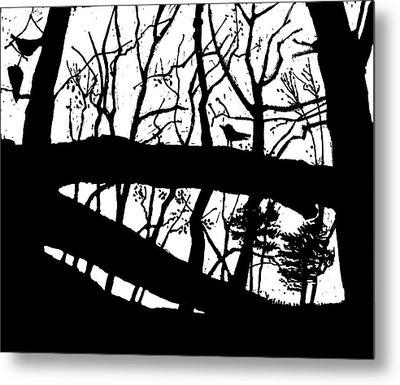 Blackbird In The Woods Metal Print by Martin Stankewitz