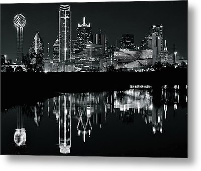 Blackest Night In Big D Metal Print by Frozen in Time Fine Art Photography