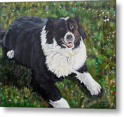 Metal Print featuring the painting Blackie by Marilyn  McNish