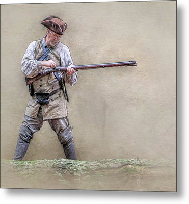 Blackpowder Woodsman Version Two Metal Print by Randy Steele