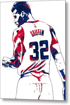 Blake Griffin Los Angeles Clippers Pixel Art 4 Metal Print