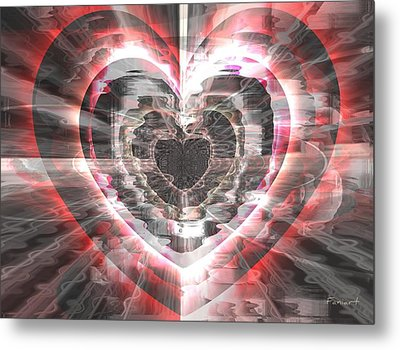 Blessed Heart Metal Print by Fania Simon