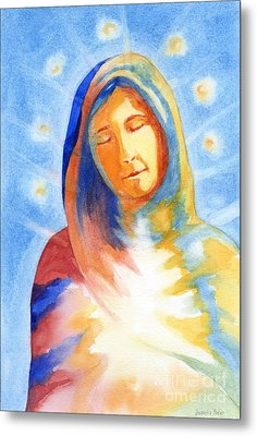 Blessed Mother Metal Print by Juanita Yoder