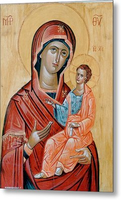 blessed Virgin Mary Metal Print by George Siaba