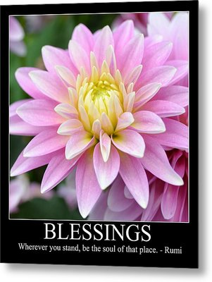 Blessings Dahlia Metal Print